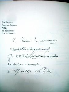 Bertha assinou o livro da Carta das Nações Unidas no dia 26 de junho de 1945, em cerimônia realizada na cidade de San Francisco, EUA.