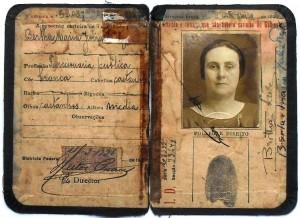 Carteira de funcionária pública, 1928 [Origem: Museu Nacional/Projeto Semear]